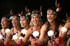 Members of Te Kapa Haka o Te Whanau-a- Apanui from Opotiki preform during the Te Matatini National Kapa Haka Festival at Hagley Park in Christchurch, New Zealand. The National Kapa Haka festival is a biennial event celebrating Maori traditional performing arts.
