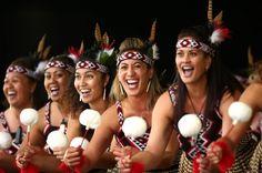 Members of Te Kapa Haka o Te Whanau-a- Apanui from Opotiki preform during the Te Matatini National Kapa Haka Festival at Hagley Park in Christchurch, New Zealand. The National Kapa Haka festival is a biennial event celebrating Maori traditional performing arts.