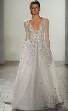 Long Sleeve Sparkle Wedding Dresses
