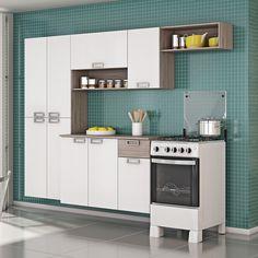 Praticidade, economia e harmonia no ambiente. A cozinha compacta é uma ótima opção para você deixar o seu espaço ainda mais bonito e organizado usando apenas um móvel.