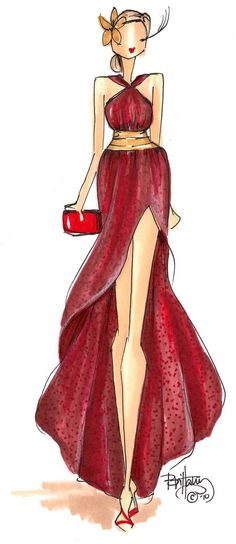 Brittany Fuson fashion sketch