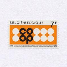 75th Anniversary, International Co-operative Alliance (7F). Belgium, 1970. Design: J. Malvaux. #mnh #graphilately