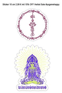 Sticker in 10 cm 2,99€ minus 15% nur noch heute hol die Inspiration für dein Seelenglück #yogamehappy #yogafashion Yoga Studio Design, Sanskrit, Third Eye, Yoga Inspiration, Namaste, Chakra, Yoga Symbole, Meditation, Religion