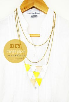 DIY // Triangle Paper Necklace