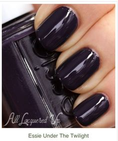Essie Under the Twilight deep Aubergine nail polish