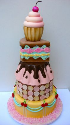 cupcake cake birthday cake
