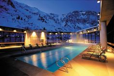 Cliff Lodge & Spa at Snowbird Ski Resort about 25 miles from downtown Salt Lake City
