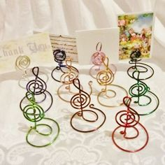 Silver Treble Clef place card table number holders via Customizedjust4you