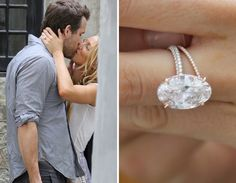 That ring please :) Celebrity Wedding & Engagement Bling Celebrity Wedding Rings, Wedding Rings For Women, Celebrity Weddings, Celebrity Jewelry, Engagement Celebration, Wedding Engagement, Blake Lively Ring, Unique Weddings, Wedding Unique