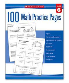 Grade 6 100 Math Practice Pages Workbook #zulily #zulilyfinds