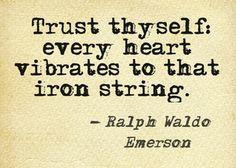 emerson trust thyself