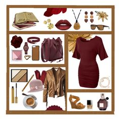 """""""Brown and Russet Red"""" by capfan2014 on Polyvore featuring LE3NO, Seychelles, Arnette, Sans Souci, AeraVida, Betmar, GiGi New York, MANGO, NOVICA and Urbiana"""