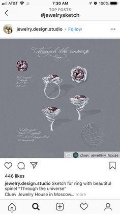 Jewelry Sketch, Jewellery Sketches, Jewelry Drawing, Jewelry Art, Fine Jewelry, Jewelry Design, Fashion Jewelry, Modern Jewelry, Vintage Jewelry