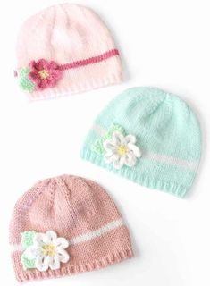 Spring Daisy HatThis knitting pattern / tutorial is available for free... Full Post: Spring Daisy Hat