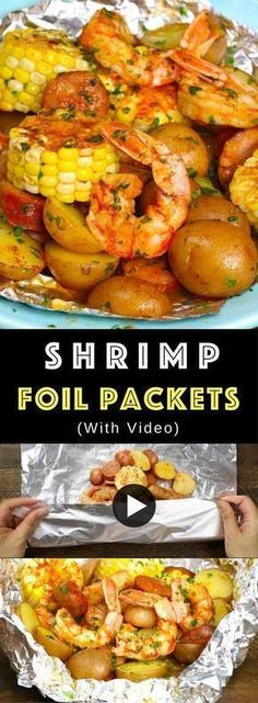 The Best Shrimp Boil with corn, potatoes and sausage - easily made on the grill or oven in foil packets. Perfect for a party! The Best Shrimp Boil with corn, potatoes and sausage - easily made on the grill or oven in foil packets. Perfect for a party! Shrimp Foil Packets Oven, Shrimp Boil Foil Packs, Grilled Foil Packets, Foil Packet Dinners, Foil Pack Meals, Foil Dinners, Shrimp Boil In Oven, Potato Foil Packets, Boiled Shrimp