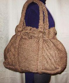 CLIZIA - Maxi borsa in maglia