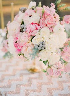A blush dream and a sequin linen ~ Photography:  Ruth Eileen, Flowers: Tamara Menges Designs  | bellethemagazine.com