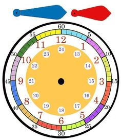 Learning Clock, Kids Learning, Teaching Time, Teaching Math, Preschool Math, Kindergarten Math, Educational Activities, Preschool Activities, Math Clock