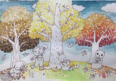 가을나무그리기