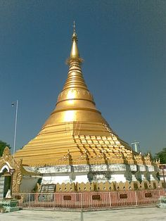 The Golden Temple:The temple made by Singapore government in the birth place of Lord Gautam Buddha, Lumbini, Nepal.