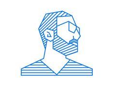 self portrait illustration by Ahmad Nasr:
