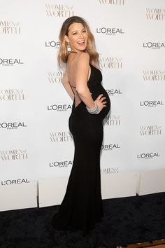 Blake Lively and Her Bump Go Glam For a Night Out: Mom-to-be Blake Lively stunned when she stepped out for the L'Oréal Paris Women of Worth Celebration in NYC on Tuesday.