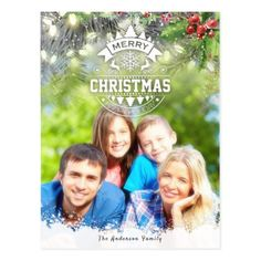 Merry Christmas Happy New Year Greeting Photo Card - holidays diy custom design cyo holiday family