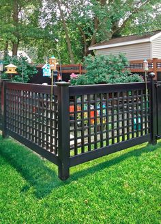 3750 in Black Vinyl Scallop Accent Garden Fence 73004431 at The
