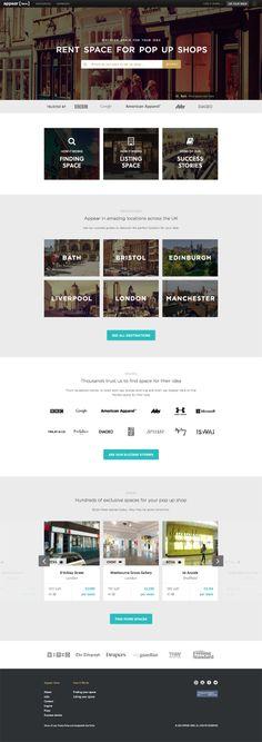 An example of flat UI design