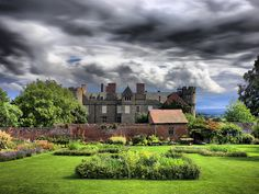 Walled garden and Croft Castle, Yarpole, Herefordshire, England - photo by J H B