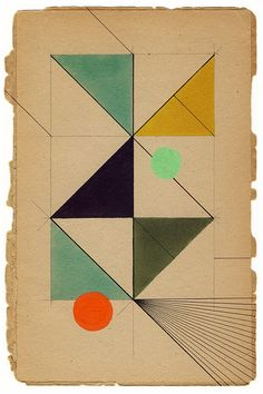 Geometric collage. #collage, #triangles