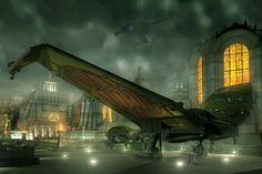 Star Trek fine art - Landed Romulan Bird of Prey