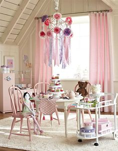 adorable little girl playroom, by  Pottery Barn Kids