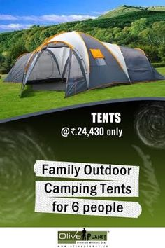 Take your entire family on a fun camping trip with this family camping tent @ Olive Planet. Shop your favorite tent today. Visit: http://www.oliveplanet.in/camping-survival/shelter-sleeping  #largesizecampingtents  #outdoortentsonline  #buyfamilytents