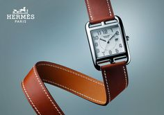 replica hermes cape cod watch taupe band