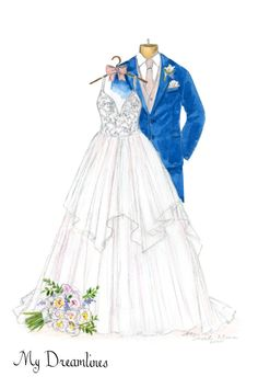 handcrafted wedding dress sketches make the best gift for wife. A customized sketch of her dress she has been dreaming of since she was a little girl. French Wedding Style, Wedding Looks, Perfect Wedding, Wedding Day, Wedding Cards, Traditional Anniversary Gifts, Anniversary Gifts For Wife, Birthday Gifts For Girlfriend, Wedding Gifts For Groomsmen