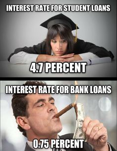 Actually it is even higher than that now for college students! Some companies are now compounding the interest DAILY!