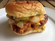 Grilled BBQ Chicken Sandwiches with Brown Sugar Grilled Onions
