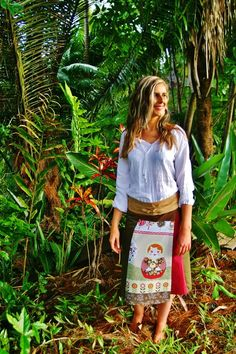 Gorgeous bohemian top and skirt from Truessence Clothing