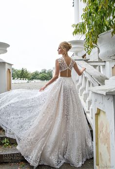 nurit hen 2017 bridal sleeveless v neck full embellishment sexy glamorous a line wedding dress chapel train (18) bv -- Nurit Hen Ivory and White 2017 Wedding Dresses