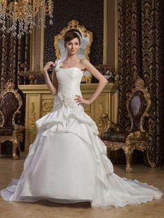 Marita - sirena cuore abito da sposa in raso con applique