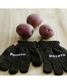 These gloves can be used on potatoes and other vegetables to clean away grime while leaving skin intact. Get them here: http://www.bhg.com/shop/williams-sonoma-potato-scrubbing-gloves-p5057338182a7db34a802bdf0.html