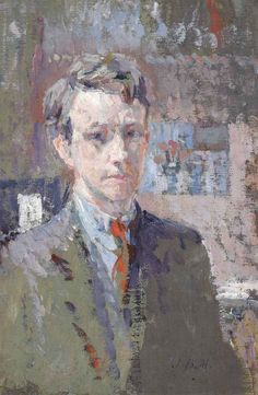 James Bolivar Manson (English, 1879-1945), Self-portrait. Oil on canvas, 12 x 8 in.