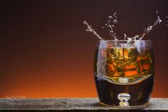 Rustic Glass of Whisky on wood with splash by BrianEnright #food #yummy #foodie #delicious #photooftheday #amazing #picoftheday