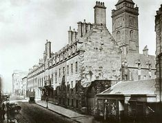 What a magic piece of Glasgow history tied up in an amazing image. This is Glasgow University on High Street around 1868 - 1870. Glasgow University was located on High Street from 1563 to 1870 before it moved to the west end of the city due to the rapid industrialisation of the area around High Street.