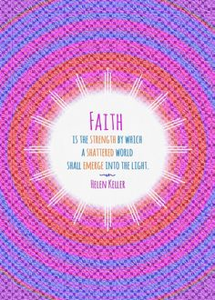 helen keller quote faith emerge light strength Text art