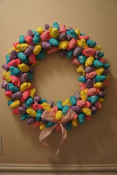 Easter Peep Wreath!