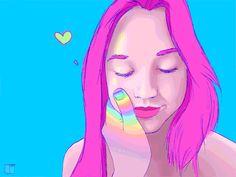 love relationship heart colorful plur Psychedelic art beautiful girl beautiful art love art rainbow art phazed