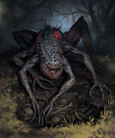 fantasy_dark — megadarkthings: Night residents by Denis. Fantasy Demon, Fantasy Beasts, Fantasy Monster, Dark Fantasy Art, Fantasy Names, Fantasy Forest, Fantasy City, Fantasy Drawings, Fantasy Castle