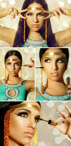 ... first use of mascara by the ancient egyptians. #egyptian #eye #makeup Simple Clown Makeup Men